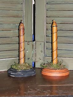 Primitive Candle Holders to buy and sell at Carolyn's Candles