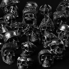 It's all handmade 3D skull rings based on lead free pewter by Fourspeed Metalwerks, a top class brand that have worked with well known musicians, artists and professional athletes.www.fourspeed.comwww.fourspeedmetalwerks.bigcartel.com