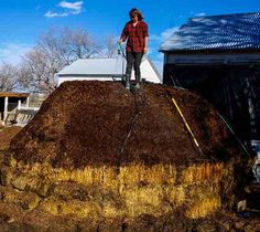 Completed compost pile