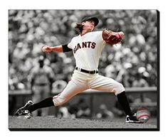 Tim Lincecum Canvas Framed Over With 2 Inches Stretcher Bars-Ready To Hang- Awesome & Beautiful