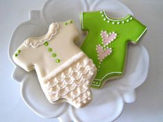 BABY ONSIE Sugar Cookies by justcrumbs on Etsy