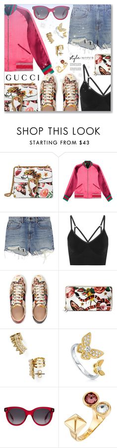 """Presenting the Gucci Garden Exclusive Collection Contest Entry"" by dressedbyrose ❤ liked on Polyvore featuring Gucci, Alexander Wang, NIKE, Rebecca Minkoff, BERRICLE, Alexander McQueen, contest, gucci, contestentry and polyvoreeditorial"