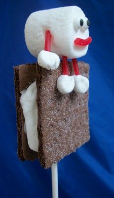 Humpty Dumpty sat on a s'mores pop.  Oh.  My.  Goodness.  Might have to do this in my classroom with the nursery rhyme!
