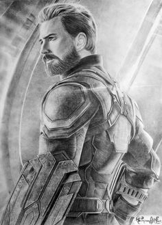 Chris evans as captain america pencil sketch ig dibujos marvel, dibujos a lápiz Easy Drawings Sketches, Pencil Art Drawings, Realistic Drawings, Cartoon Drawings, Drawing Ideas, Charcoal Drawings, Drawing Tips, Chris Evans, Avengers Drawings