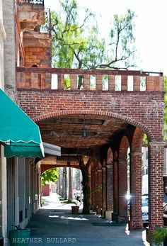 Brick veranda and arches, Riverside, California