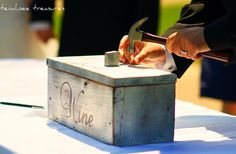 Rustic Wedding Wine Box for 25 year anniversary. Will need this someday. Wedding Events, Our Wedding, Wedding Ideas, Wedding Things, Wedding Decor, Wedding Stuff, Wedding Inspiration, Weddings, Wine Box Ceremony