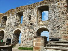 The ruins of Brahehus Castle