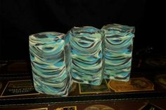 Robyn Thomson | Mellow Soap Bars Made using spoons to swirl. Love the colors and designs.