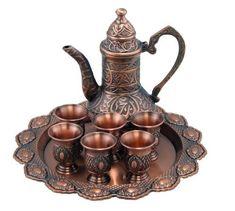 Arabic Bedouin Copper Coffee Tea Service Set Beautiful Coffee or Tea Set