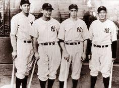 New York Yankees Bill Dickey,Lou Gherig,Joe DiMaggio,Tony Lazzeri