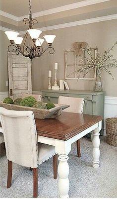 Cute Farmhouse Table Dining DecorDinning Room