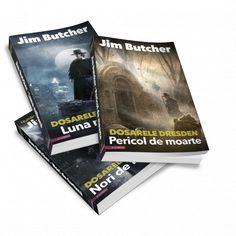 Dosarele Dresden, de Jim Butcher, pachet vol 1 + 2 + 3, Nori de furtuna, Luna nebuna, Pericol de moarte