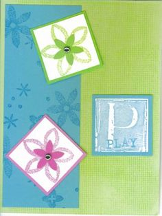 A for Adorable Play by MNDawn - Cards and Paper Crafts at Splitcoaststampers Stampin Up, Paper Crafts, Play, Group, Frame, Cards, Decor, Picture Frame, Decoration