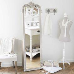 Miroir psyché beige 54x178 Elina   Maisons du Monde