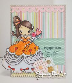 """""""Frou Frou Sweet"""" rubber stamp by The Greeting Farm"""