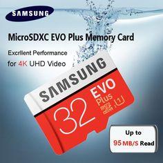 Free Shipping SAMSUNG Memory Card EVO Plus 32GB Class10 TF Card 32 G Micro SD card C10 microSDHC microSD UHS-I U3  Price: 11.00 & FREE Shipping  #tech|#electronics|#home|#gadgets Capture Photo, Video Capture, Evo, Gadget Store, Latest Smartphones, 4k Uhd, Card Reader, Samsung, Sd Card