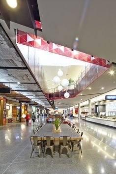 Balustrade Graphic. Designed by Thoughtspace. Merrylands Shopping Centre. Photography by Steve Brown