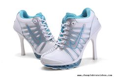For Sale 2012 Nike Air Max High Heels Light Blue White For Sale Special Offer