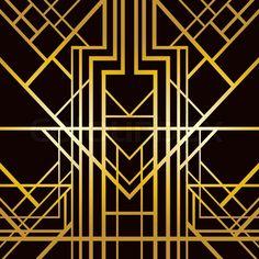 1920s Art Deco | Art deco geometric pattern (1920's style) | Vector | Colourbox