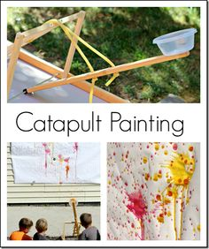 Catapult Painting Kids Activity #kids #play #painting
