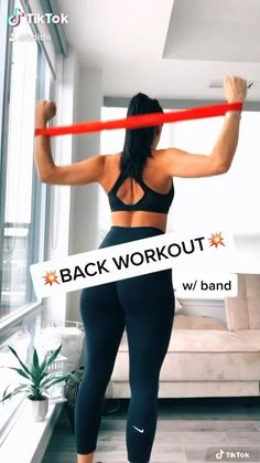 Fitness Workouts, Gym Workout Videos, Gym Workout For Beginners, Fitness Workout For Women, Fitness Goals, Fitness Tips, Back Workout Women, Band Workouts, Band Exercises