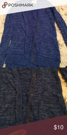Cardigan! Worn few times! Not my color! Good condition! Make me an offer Hollister Sweaters Cardigans