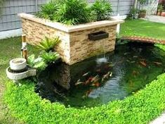 i wanna koi pond like this! Sky Garden, Garden Bridge, Feng Shui Garden Design, Aquarium, Creative Landscape, Japanese Koi, Container House Plans, Farm Stay, Outdoor Furniture Sets