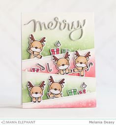 Merry card by Melania Deasy for mama elephant - reindeer games