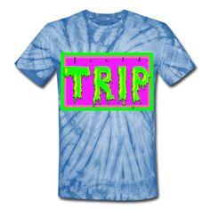 SICKIE THREADS   FIELD TRIP - Unisex Tie Dye T-Shirt Cool Ties, Tie Dye Patterns, Tie Dye T Shirts, Unique Outfits, Unisex Fashion, Snug Fit, Cotton Fabric, Mens Tops, Clothes