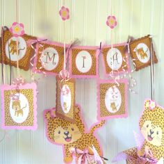 Cute party (babyshower? nursery?) #leopard decor from @obs form Nursery + Project Junior #pinparty