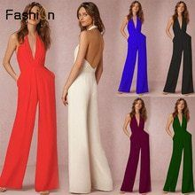 47659419b1c  jumpsuit. Overalls FashionOlTrousers WomenLong PantsClubwearPocketsPlaysuit BacklessChihuahua