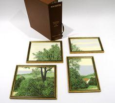 Profondeurs de la Terre ou Paysage (1930) Cstom framed color lithograph after the painting by René Magritte