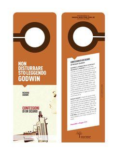 """Richard Godwin - Confessioni di un sicario. """"do not disturb"""" bookmark meme publishers © 2013"""