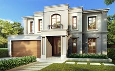 Provincial, New Home Designs - Metricon Villa, House Front, My House, Residential Architecture, Architecture Design, Casa Loft, Fancy Houses, Storey Homes, Marquise