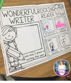 Adorable memory book craft that's perfect for end of the year! I love that it has them reflect on their learning and how they have grown. Would be a perfect keepsake to send home for summer!