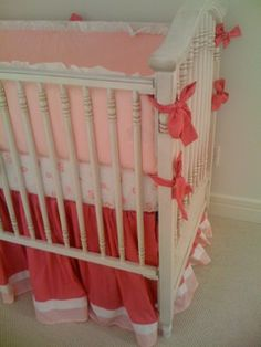 AFK Madison Crib  with Maddie Boo Bedding. Love Hot Pink & Baby Pink