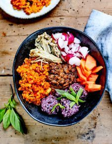 Buddha bowl shimejis, riz et lentilles, sauce tahini, Click web site other content Clean Recipes, Raw Food Recipes, Vegetarian Recipes, Healthy Recipes, Sauce Tahini, Smoothie Bowl, Plat Vegan, Whole Foods, Rice Cooker Recipes