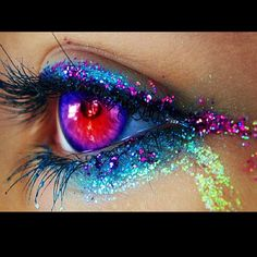 The glitter really pops out, as well as the bold colors.