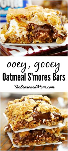 Ooey Gooey Oatmeal Smores Bars are a must-make dessert for all of your summer parties!