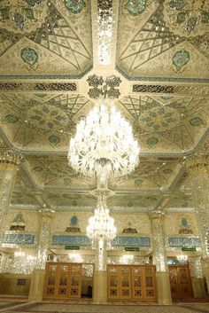 Dar-al-Hojjah Porch,Imam Reza shrine, Mashhad, Iran (Islamic Art)