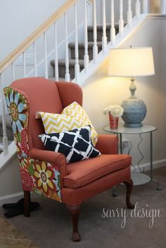Wingback Chairs With Two Fabrics   Google Search
