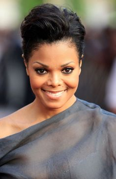 Sexy Short Hairstyles for Black Women: Janet Jackson's Tapered 'Do