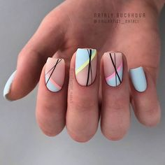 Beautiful Square Nails Design Ideas You'll Want To Copy Immediately – Pa. - Beautiful Square Nails Design Ideas You'll Want To Copy Immediately – Page 4 – Cocopipi - Cute Acrylic Nails, Cute Nails, Pretty Nails, Square Nail Designs, Acrylic Nail Designs, Manicure Nail Designs, Nail Polish Designs, Nail Manicure, Manicures