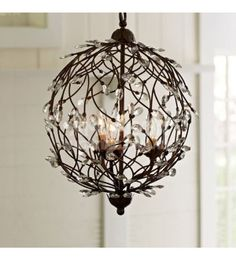 Camilla Sphere Crystal and Iron Chandeliers Replica