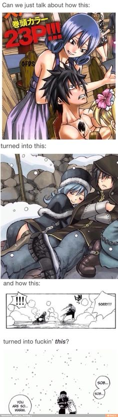 There's a development on their relationship :D Gruvia all the way! :D  Gray Fullbuster X Juvia Lockser