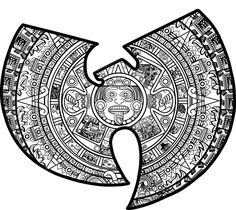 Image of Aztec Wu-Tang Sticker Wu Tang Tattoo, Wu Tang Clan Logo, Aztec Tattoo Designs, Surreal Tattoo, Hip Hop Art, Knowledge And Wisdom, Rhythm And Blues, Psychedelic Art, Tattoo You