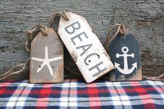 Wood Beach Tags Wood Beach Sign Anchor Starfish Beach Decor Nautical Anchor Sign Beach Wood Sign Nautical Sign Nautical Gift Beach Gift