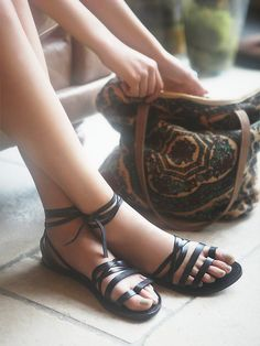 Free People Harpoon Wrap Sandal at Free People Clothing Boutique