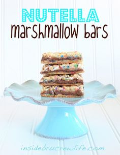Nutella Marshmallow Bars#Repin By:Pinterest++ for iPad#