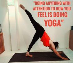 """""""DOING ANYTHING WITH ATTENTION TO HOW YOU FEEL IS DOING YOGA"""" #feelyourself #jeevmokshayogagurukul #hathayoga #teachertraninginrishikesh #yoga #practise #yogaeveryday  www.jeevmokshayoga.com Rishikesh, Yoga Everyday, Do Anything, How To Do Yoga, How Are You Feeling, Teacher, Feelings, Professor, Teachers"""